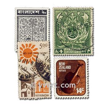 POSESIONES BRITÁNICAS: lote de 500 sellos