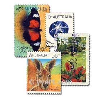 AUSTRALIE : pochette de 200 timbres