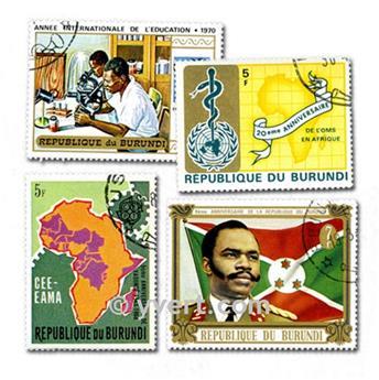 BURUNDI : pochette de 500 timbres