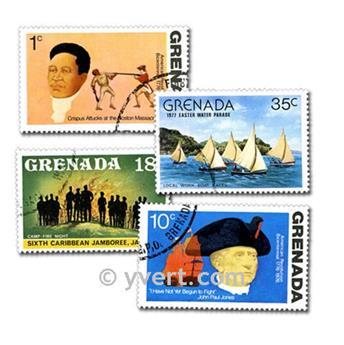 GRANADA: lote de 100 sellos