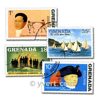 GRENADA: envelope of 100 stamps