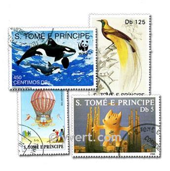 SANTO TOMÉ Y PRÍNCIPE: lote de 200 sellos