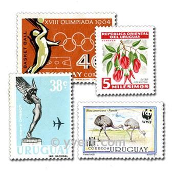 URUGUAY: lote de 200 sellos