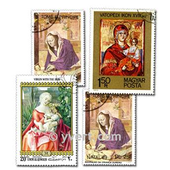 NATIVITY VIRGIN: envelope of 100 stamps
