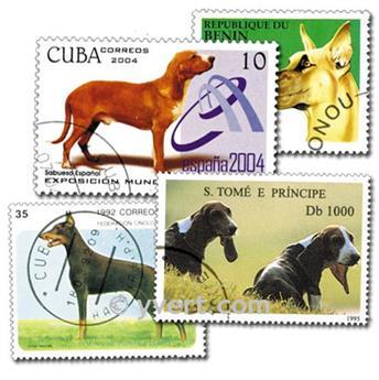 CHIENS : pochette de 50 timbres