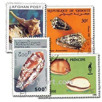 COQUILLAGES : pochette de 50 timbres