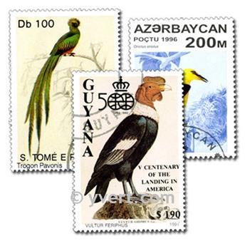 BIRDS: envelope of 300 stamps