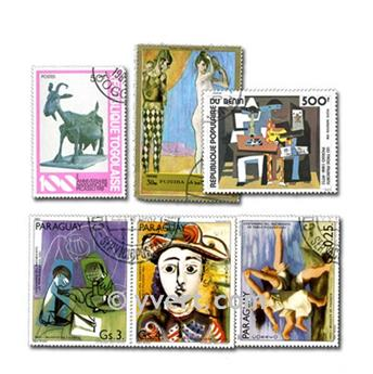 PICASSO : pochette de 50 timbres