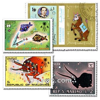 ASTROLOGIE : pochette de 25 timbres