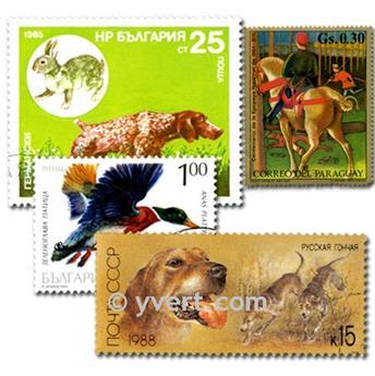 CHASSE : pochette de 25 timbres