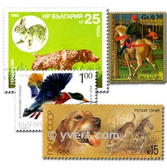 HUNTING: envelope of 25 stamps