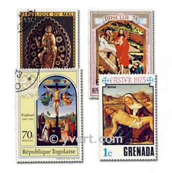 PAQUES : pochette de 50 timbres