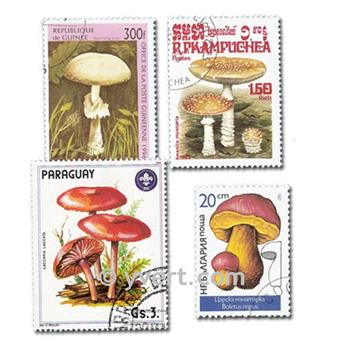MUSHROOMS: envelope of 200 stamps