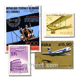 AVIÕES: lote de 300 selos