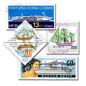 BATEAUX : pochette de 500 timbres