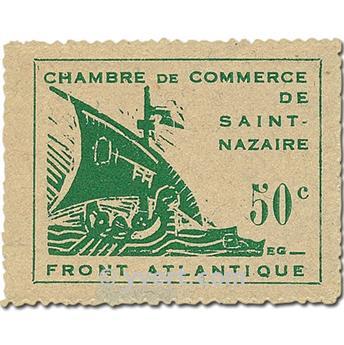 n° 8/9 -  Timbre France De guerre