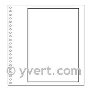 """Pages vierges """"SUPRA"""" : blanc avec cadre (x50)"""