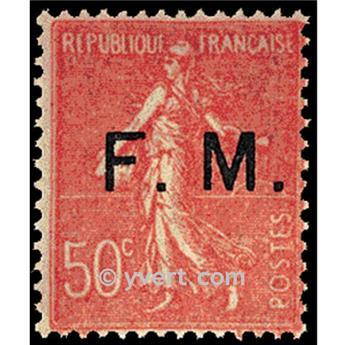 n° 6 -  Selo França Franquia postal