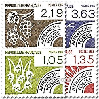 n° 178/181 -  Selo França Pré-obliterados