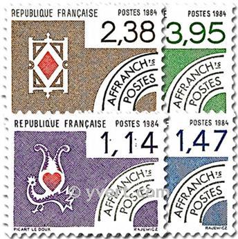 n° 182/185 -  Selo França Pré-obliterados
