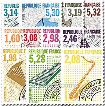 n° 213/223 -  Selo França Pré-obliterados