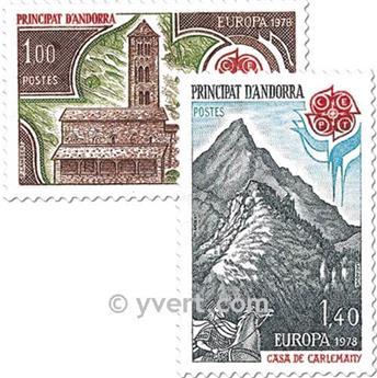 n° 269/270 -  Selo Andorra Correios