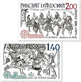 nr. 292/293 -  Stamp Andorra Mail