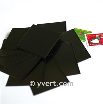 Pochettes simple soudure - Lxh:26x40mm (Fond noir)