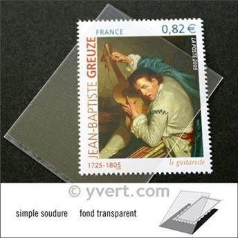 Pochettes simple soudure - Lxh:41x53mm (Fond transparent)