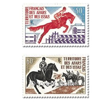 n° 365/366 -  Timbre Afars et Issas Poste