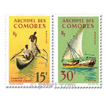 n.o 33 / 34 -  Sello Comoras Correos