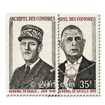n° 77/78 -  Timbre Comores Poste