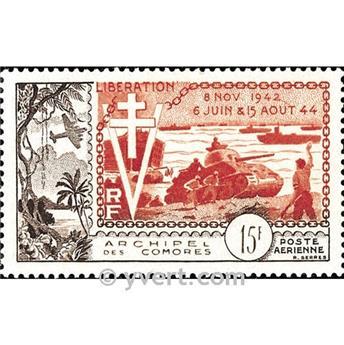 n° 4 -  Selo Comores Correio aéreo