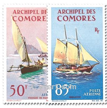 n.o 10 / 11 -  Sello Comoras Correo aéreo