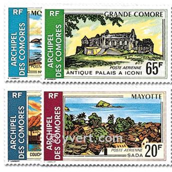 n° 32/35 -  Selo Comores Correio aéreo