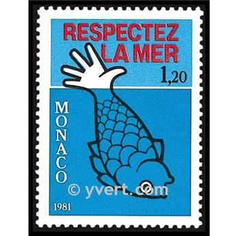 n° 1264 -  Selo Mónaco Correios