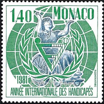 n° 1276 -  Selo Mónaco Correios