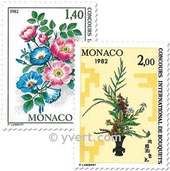 n° 1295/1296 -  Selo Mónaco Correios