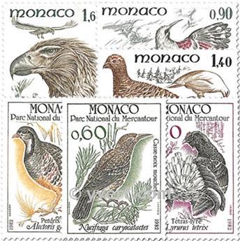 n° 1316/1321 -  Selo Mónaco Correios