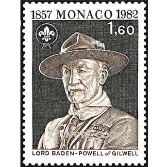 n° 1334 -  Timbre Monaco Poste