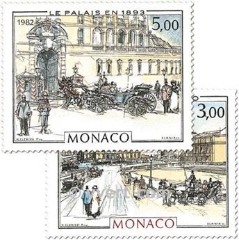 n.o 1340/1341 -  Sello Mónaco Correos