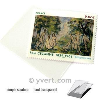 Pochettes simple soudure - Lxh:53x41mm (Fond transparent)
