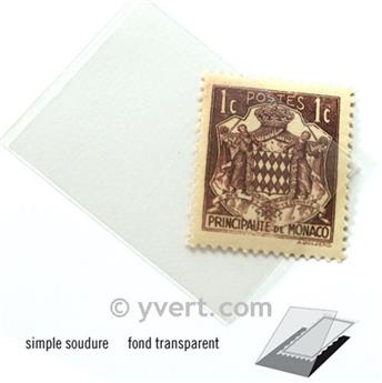 Pochettes simple soudure - Lxh:26x36mm (Fond transparent)