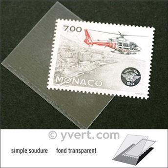 Pochettes simple soudure - Lxh:40x31mm (Fond transparent)