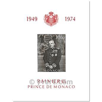 n° 8 -  Timbre Monaco Bloc et feuillets