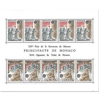 n° 22 -  Selo Mónaco Blocos e folhinhas