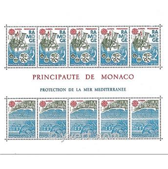 n.o 34 -  Sello Mónaco Bloque y hojitas