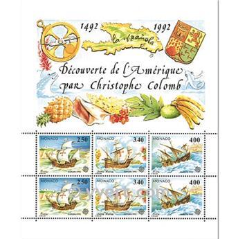 n.o 57 -  Sello Mónaco Bloque y hojitas