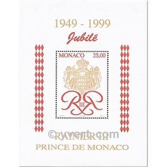 n.o 80 -  Sello Mónaco Bloque y hojitas