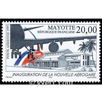 n° 1 -  Timbre Mayotte Poste aérienne